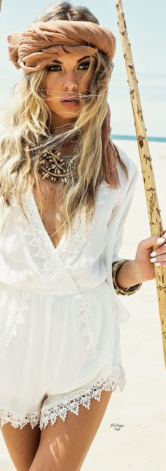 Glam Bohemian Chic modern hippie look. For MORE Boho chic looks FOLLOW https://www.pinterest.com/happygolicky/the-best-boho-chic-fashion-bohemian-jewelry-gypsy-/ now
