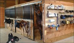 tack room organizers | grooming organizers in tack up area