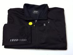 IZOD 3XL Fleece Jacket Full Zip PerformX Ratio Mens XXXL Black Golf Jacket NEW #IZOD #FleeceJacket