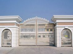 Deciding a gate design for small house often gets perplexing. Get some beautiful simple gate design ideas that would make your house look gracious. Home Gate Design, House Main Gates Design, Steel Gate Design, Front Gate Design, Entrance Design, Small House Design, Simple Gate Designs, Gate Designs Modern, Front Gates