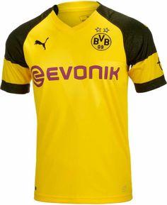 2018/19 Puma Borussia Dortmund Home Jersey. Get it from www.soccerpro.com