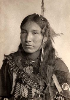 He speaks through his photo. Kills First, Sioux. Photographed in 1898 by Gertrude Kasebier.