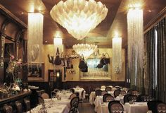 Restaurant Les Trois Garçons in Shoreditch. I want to hang bags from all my ceilings now!