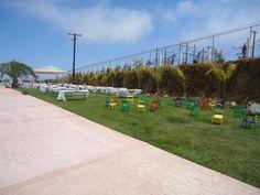 Areas infantiles, ceremonia y eventos  al aire libre en Jardin de Fiestas Calypso Gardens