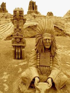 The sand art is really unbelievable. Just have a closer look at this great work of art.