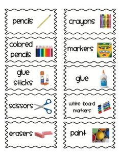Classroom organization labels- Thin frame special order ex