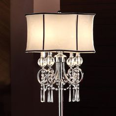 TRIBECCA HOME Hyland 63.5-inch Crystal Floor Lamp | Overstock.com Shopping - The Best Deals on Floor Lamps