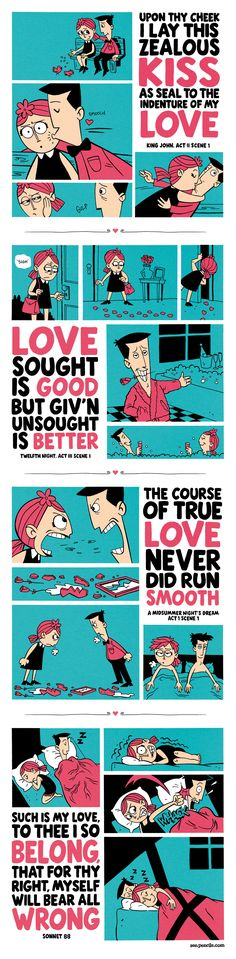 ZEN PENCILS » 126. SHAKESPEARE: A love story in four parts