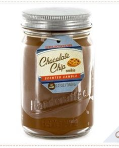 Chocolate chip scented candle