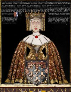 Blanche of Artois (1248 – 1302) was the was the daughter of Count Robert I of Artois & Matilda of Brabant. She married Henry I of Navarre & upon his death, she served as regent from 1274 to 1284 on behalf of her daughter, Joan I. She married,secondly, Edmund 'Crouchback' of England & had 2 sons including Henry, 3rd Earl of Lancaster.