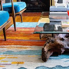 Use a mixer  A multicolor piece—a rug is great for this—can tie elements together and add new hues. Luribaft Gabbeh rug, $311; wayfair.comRead more: Decorating with your favorite color    Photo: Thomas J. Story, Sunset.com / Thomas J. Story/Sunset Publishing