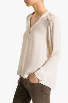SHIRT WITH CONTRASTING BACK - View all - Shirts & Blouses - WOMEN - United States