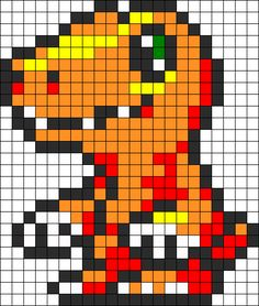 Kandi Patterns for Kandi Cuffs - Characters Pony Bead Patterns Melty Bead Patterns, Pearler Bead Patterns, Perler Patterns, Beading Patterns, Pixel Art Templates, Perler Bead Templates, Diy Perler Beads, Minecraft Beads, Minecraft Pixel Art
