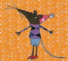 That Pesky Rat illustration by Lauren Child. Use of pattern for background