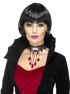 Ladies Halloween Choker Vampire Necklace