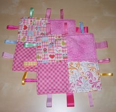 Baby Taggy Comforter Tutorial. Easy way to scratch my itch to make some quilts without spending so much on supplies or ending up with a bunch of quilts I don't have a use for.
