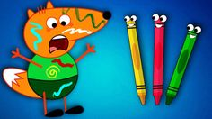 FOX FAMILY Baby vs Colorful Pencils Funny Story Full Episodes! Finger Fa...