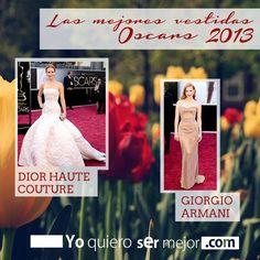 Las mejores vestidas Oscars 2013 #Fashion #Oscars2013 #AcademyAwards #Moda #2013 #LooksOscars #Yoquierosermejor