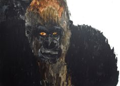 マウンテンゴリラ2 ミコロマチコ Mountain Gorilla by Machiko Miroko