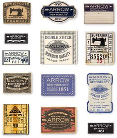 Arrow/Cluett Labels / Glenn Wolk
