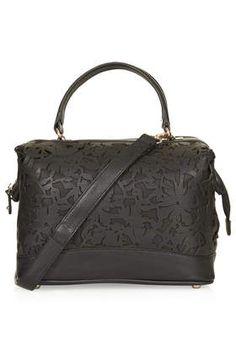 Floral Lazer Cut Holdall Bag - Bags & Purses  - Bags & Accessories
