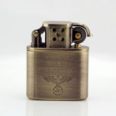 WW2+German+Lighter+Stainless+Steel+Windproof
