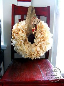 super cheap wreath form coffee filter wreath, crafts, repurposing upcycling, seasonal holiday d cor