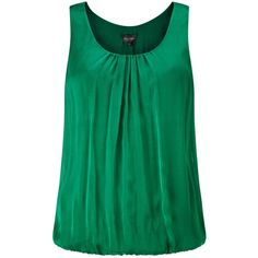 Phase Eight Lua Silk Blouse, Emerald (3.290 RUB) ❤ liked on Polyvore featuring tops, blouses, green blouse, silk sleeveless top, green silk blouse, sleeve blouse and green top