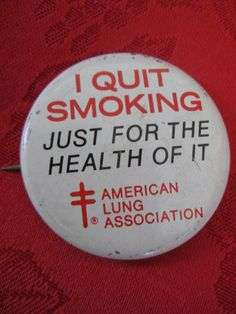 Vintage I Quit Smoking for the Health of it by VintageByThePound, $9.00