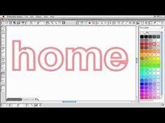 Silhouette Studio: Creating an Outlined Word (Kerri Bradford)