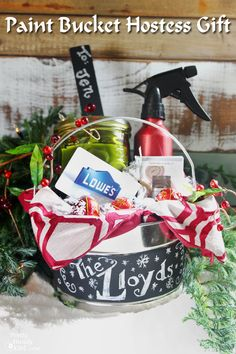 Hostess Gifts in a Paint Can {Lowe's Creative Idea} - Pretty Handy Girl