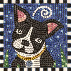 450 Pcs Home Decoration DIY Tiles Mosaic Stained Glass Pieces With Coontainer Mosaic Crafts, Mosaic Projects, Paper Mosaic, Mosaics For Kids, Boston Terrier Art, Mosaic Kits, Boston Art, Mosaic Flower Pots, Mosaic Animals