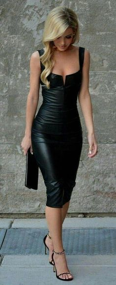 Handmade Women's Leather Celebrity Dress , Leather Outfit, Leather Jacket , Women's Vintage Leather , Dress Genuine Leather Jacket Sexy Dresses, Cute Dresses, Beautiful Dresses, Cute Outfits, Summer Outfits, Party Dresses, Trendy Outfits, Beautiful Women, Work Dresses