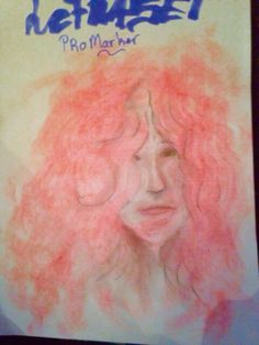 Een tekening doe ik maakte om nieuwe potloden uit te proberen. Had ze geslepen en her slijpsel van de punt uitgeveegd   A drawing that I made with my new pencils to try them out. I sharpened them and the dust coming from it rubbed over the paper to create the hair