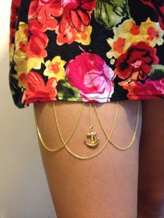 Anchor Thigh Chain  on Etsy, $9.00
