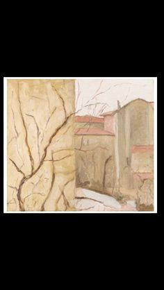 """Giorgio Morandi - """" Cortile di via Fondazza """", 1957 - Oil on canvas - 47 x 52 cm"""