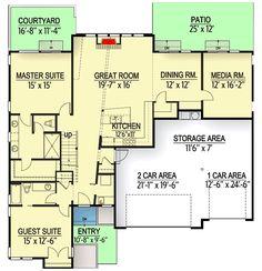 Modern Home Decor Bedroom Modern House Plans, Modern House Design, Modern Interior Design, Home Design Floor Plans, Architectural Design House Plans, Neptune Beach, Ultra Modern Homes, Garage House Plans, Guest Suite