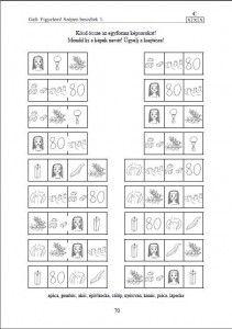 """Játékos feladat a """"C"""" hang gyakorlásához a sorozat 1. kötetéből."""