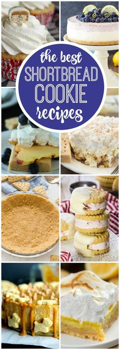 These are the BEST Shortbread Cookie recipes! Use that box of Walkers Shortbread…