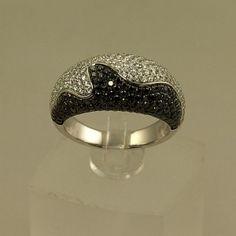 Black and White Diamond Fashion Ring DL