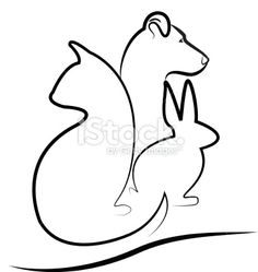 Cat dog and rabbit silhouettes logo Royalty Free Stock Photo