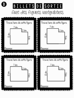 La classe de Karine: Billets de sortie en géométrie