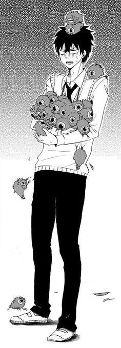 Hanae and Little Yokai | Fukigen Na Mononokean #aychan-orimangacrop