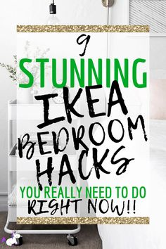 These IKEA bathroom hacks will show you how you can easily transform your bathroom on a budget! The best IKEA hacks for your bathroom organization & decor! Bedroom Hacks, Ikea Bedroom, Bedroom Ideas, Bedroom Decor, Ikea Hacks, Diy Hacks, Diy Home Decor Projects, Diy Projects To Try, Shabby Chic Ikea