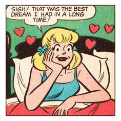 Archie Comics Retro: Betty Comic Panel; Best Dream