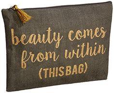 sayings for makeup bags Custom Makeup Bags, Diy Makeup Bag, Makeup Pouch, Bag Quotes, Cricut Craft Room, Pencil Bags, Vinyl Crafts, Vinyl Projects, Travel Cosmetic Bags
