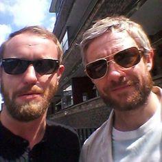 He can't be hotter, can he? Sherlock News, Sherlock Cast, Sherlock Holmes, Hobbit Films, Mark Gatiss, Richard Iii, Johnlock, Martin Freeman, New Series