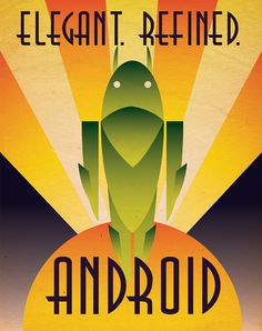 Art Deco Android Poster by Justonescarf on Etsy, $8.50