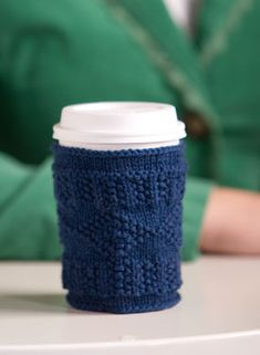 Cup cozies. Click image for lots of other ideas and patterns or here for this specific pattern: http://www.knitpicks.com/cfPatterns/FreePatternDL.cfm?id=0*%29%23%3F6AJO%284%29LD.H4R%23%3D1\0%20%20%0A . These would make such a great gift - pretty basket or bag filled with a mug, homemade cozy, coffee or tea, maybe throw in some honey, add a scone or muffin...