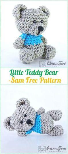 Amigurumi Crochet Sam, the Little Teddy Bear Free Pattern - Amigurumi Crochet Teddy Bear Toys Free Patterns by theresa